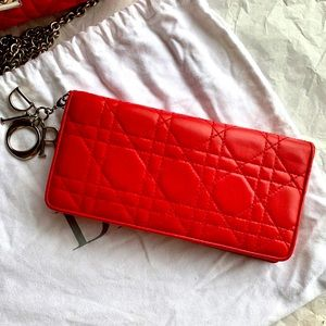 ❤️Miss Dior Flap Channage Wallet